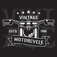 Étiquettes d'emblèmes de moto Vintage vecteur
