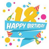 18 fond de fête d'anniversaire vecteur