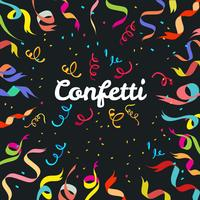 Fond de confettis vecteur lumineux coloré