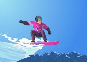 Jeux olympiques d'hiver Snowboard vecteur