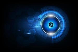technologie future de globe oculaire de vecteur, fond de concept de sécurité vecteur