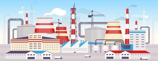 centrale électrique industrielle vecteur