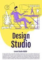 affiche de studio de design vecteur