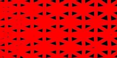 conception de mosaïque de triangle rouge clair.