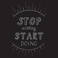 lettrage de citation de motivation vecteur