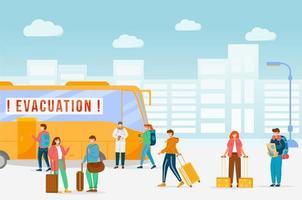 évacuation d'urgence des bus vecteur