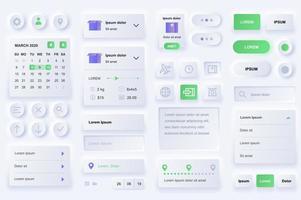 éléments d'interface utilisateur pour l'application mobile de livraison. vecteur