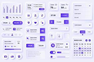 éléments d'interface utilisateur pour application mobile médicale. vecteur