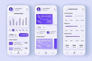 kit de conception neumorphique unique de banque intelligente vecteur