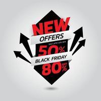 modèle de promotion de réduction de vente vendredi noir