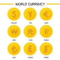 collection d & # 39; icônes de monnaie mondiale