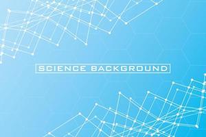 fond de science bleue avec des lignes et des structures vecteur