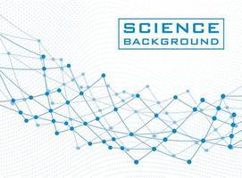 fond de science blanche avec des lignes et des structures vecteur