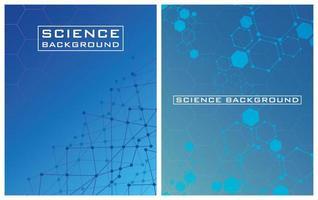 fond de science bleue sertie de lignes et de structures vecteur