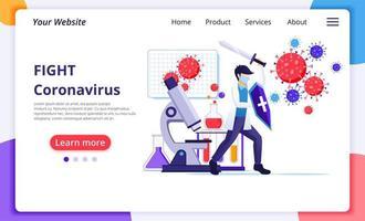 scientifique combattant le virus covid-19