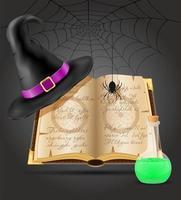 objets magiques pour la sorcellerie vecteur