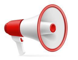 haut-parleur mégaphone rouge et blanc vecteur