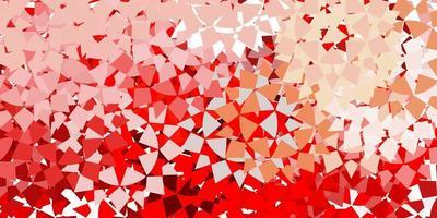 texture rouge avec un style triangulaire. vecteur