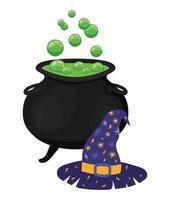 conception de bol et chapeau de sorcière halloween