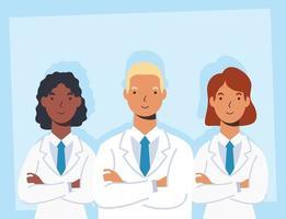 personnel médical, personnages essentiels des travailleurs vecteur