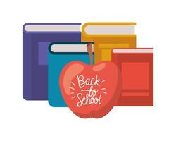 pile de livres avec icône pomme