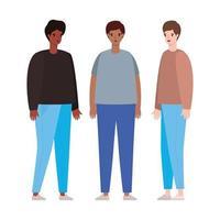 conception de dessin animé avatar hommes