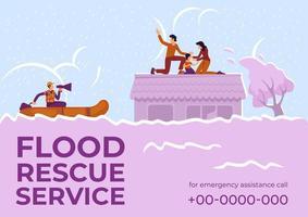 service de sauvetage en cas d'inondation vecteur