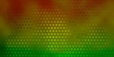 fond vert clair, jaune avec des points.