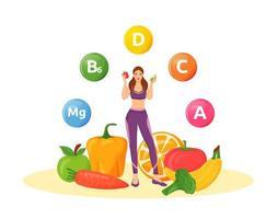 régime alimentaire équilibré vecteur