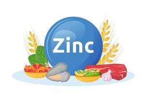 produits riches en zinc vecteur