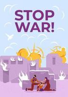 arrêter l'affiche de la guerre vecteur
