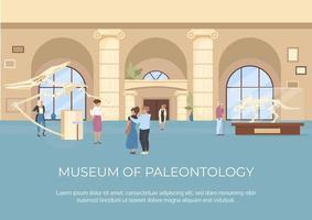 affiche du musée de paléontologie vecteur