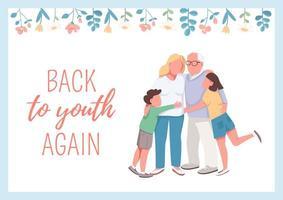 retour à la jeunesse affiche vecteur