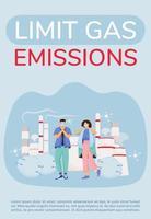 affiche de limitation des émissions de gaz vecteur