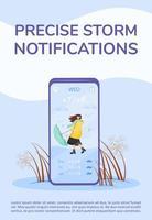 affiche précise de notification de tempête vecteur
