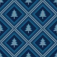 motif tricoté de Noël vecteur