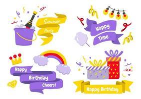 logos d'étiquettes de fête pour bannière