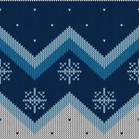 motif tricoté abstrait de Noël vecteur