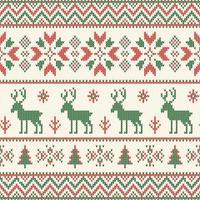 motif tricoté de Noël