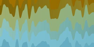 motif bleu clair et jaune avec des lignes sinueuses.