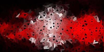 modèle de triangle poly rouge foncé. vecteur