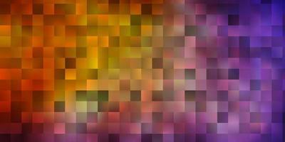 mise en page rouge et jaune avec des lignes, des rectangles. vecteur