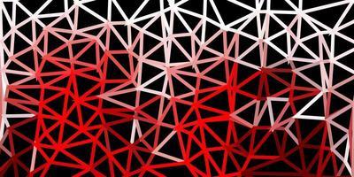 modèle de triangle poly rouge foncé.