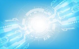 résumé, numérique, salut technologie, technologie, innovation, concept, vecteur, fond