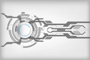 concept de fond technologique abstrait avec divers éléments technologiques. illustration vectorielle