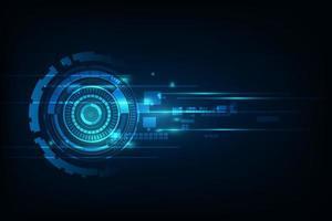 fond bleu abstrait technologie haute vitesse vecteur