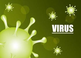 bannière verte scientifique coronavirus