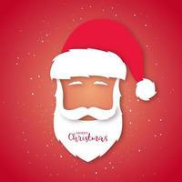 avatar du père Noël. style d'art de papier.