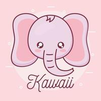 conception de dessin animé animal éléphant kawaii