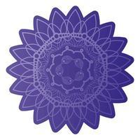 mandala de couleur violet foncé